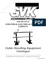 Cable Handling Equipment Catalogue - G.v. Kinsman (Pty) Ltd
