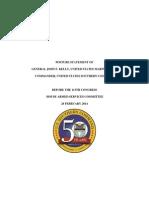 2014 Southcom Posture Statement Hasc Final PDF