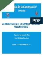 2 Capitulo IV Administracion de La Empresa y Control Presupu