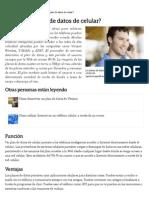 ¿Qué Es Un Planque es un planlan de Datos de Celular_ _ EHow en Español