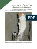 Desentierran en El Pirineo Un Cuello de Dinosaurio de 5 Metros