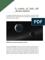 La NASA Contra El Bulo Del Asteroide de 400 Metros