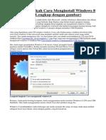 Cara Lengkap Install Windows 8