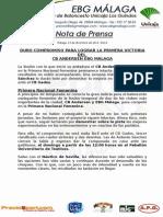 60.- Duro Compromiso Para El Cb Andersen Ebg Málaga