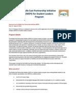 2015 MEPI Student Leaders - Announcement.pdf