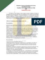 Estatutos Centro de Estudiantes de Letras UC