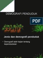 DEMOGRAFI PENDUDUK