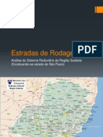 Análise malha rodoviária sudeste do Brasil