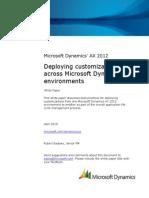 Deploying Customizations Across Microsoft Dynamics AX 2012 Environments