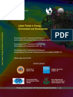 LATEST TRENDS in ENERGY, ENVIRONMENT and DEVELOPMENT
