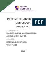 Informe de Laboratorio de Biologia
