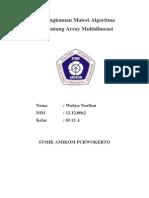 Laporan Pembuatan Array Multidimensi