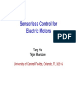 S02 Sensorless Control for Electric Motors