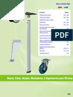 Accesorios - Ruedas, Patas, Dimenciones_Niveladores_oficinas HAFELE MEX.pdf