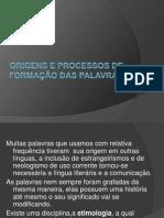 Origens e Processos de Formação Das Palavras Prof. Moises- Lpl.