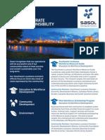 Sasol Social Responsibility