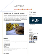 Cozinha MAISVIDA_ Hambúrguer de Casca de Banana