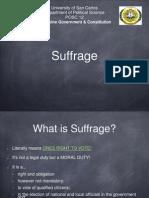 Art v Suffrage