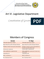 Art VI. Legislative Department
