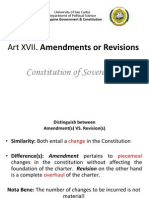 Art XVII. Constitution of Sovereignty