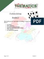 Booklet 3 Problem Solving Level 6