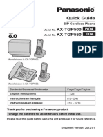 Panasonic Tgp500 Quick Start