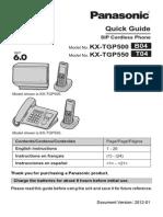 Panasonic Tgp500 Quick Start