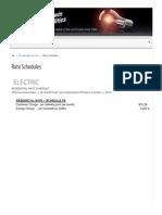 Residential Rate Schedule - Erwin Utilities