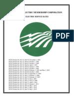 Piedmont Electric Rates 2013