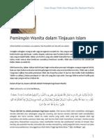 Pemimpin Wanita Dalam Tinjauan Islam