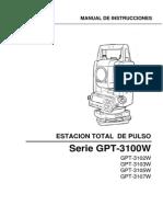 Manual Et Topcon Gpt3100w Esp