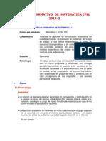 Trabajo Formativo de Matematica 2014-3
