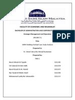 UMW Case Study