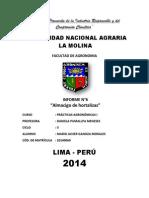 Informe Sobre Almacigo de Hortalizas