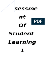 Assessment of student