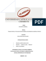 Estadistica General - TRABAJO GRUPAL N°3 DE APLICACIÓN DE MEDIDAS DE DISPERSIÓN.ASIMETRIA CURTOSIS