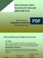 6[1]. Perencanaan Dan Perancangan Dalam Arsitektur