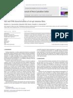 AES and FTIR Characterization of Sol–Gel Alumina Films