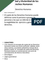 Exigibilidad y Titularidad de Los Derechos Humanos