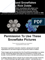 Colorized Microphotographs of Snowflakes by Rick Doble