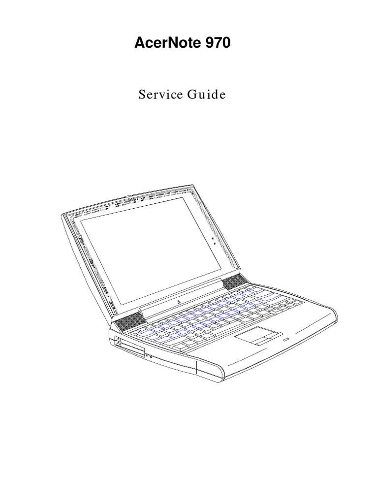 Acernote 970: Service Guide