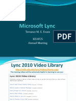 Microsoft Lync Training
