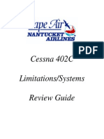Cape Air 402C systems info