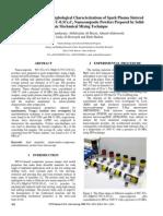 Nanomechanical and Morphological Characterizations of Spark Plasma Sintered