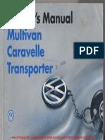 1996 VW T4 Owners ManualWM