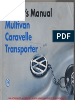 1996 VW T4 Owners ManualWM