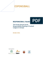 Social Responsibility Ranking in Football (2014)