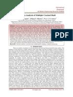 Vibration Analysis of Multiple Cracked Shaft