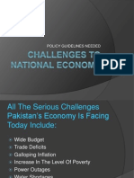 Challenges to National Economy
