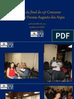 IMAGENS DA FINAL DO 23º CONCURSO NACIONAL DE POESIAS AUGUSTO DOS ANJOS